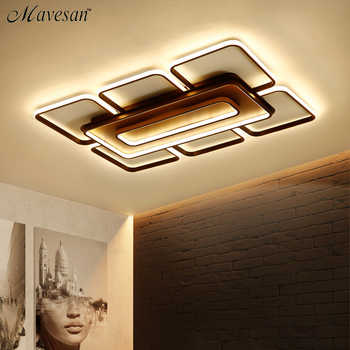 Square Modern Ceiling Lights Led For Living Room Bedroom White and Coffee Color Home Led Ceiling Lamp Luminaires AC 110V-AC260V. - DISCOUNT ITEM  49% OFF All Category