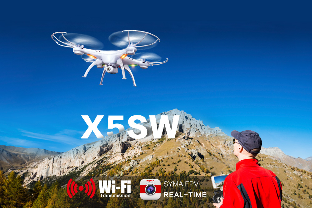 SYMA X5SW RC Drone Wifi Camera Real Time Transmit FPV Headless Mode Dron RC Helicopter Quadcopter Drone Aircraft yizhan i8h 4axis professiona rc drone wifi fpv hd camera video remote control toys quadcopter helicopter aircraft plane toy