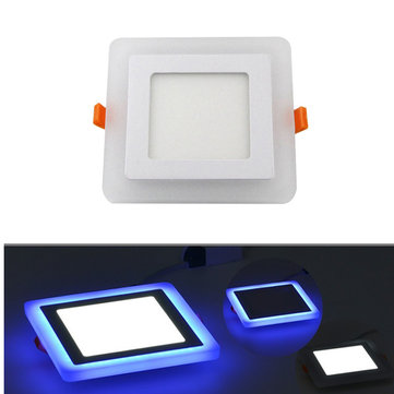 HTB1OYmUKf5TBuNjSspcq6znGFXal Double Color LED Ceiling Light 6W 9W 16W 24W Recessed Ceiling Lamp Round Square Panel Spot Light AC85-265V Indoor LED Bulb