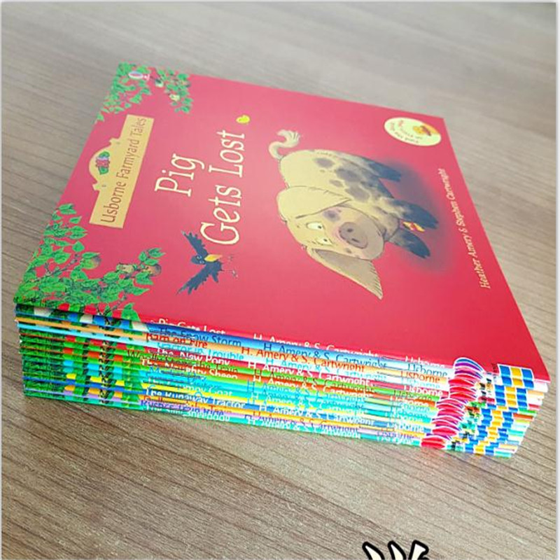 15pcs/set 15x15cm Best Picture <font><b>Books</b></font> For Children And Baby famous Story English Tales Series Of Child <font><b>Book</b></font> Farmyard Tales Story