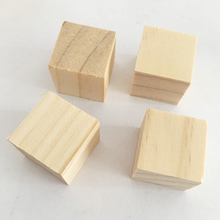 Party decoration Wooden blank wooden cube decorative wood small-scale manual weddings block kids parties