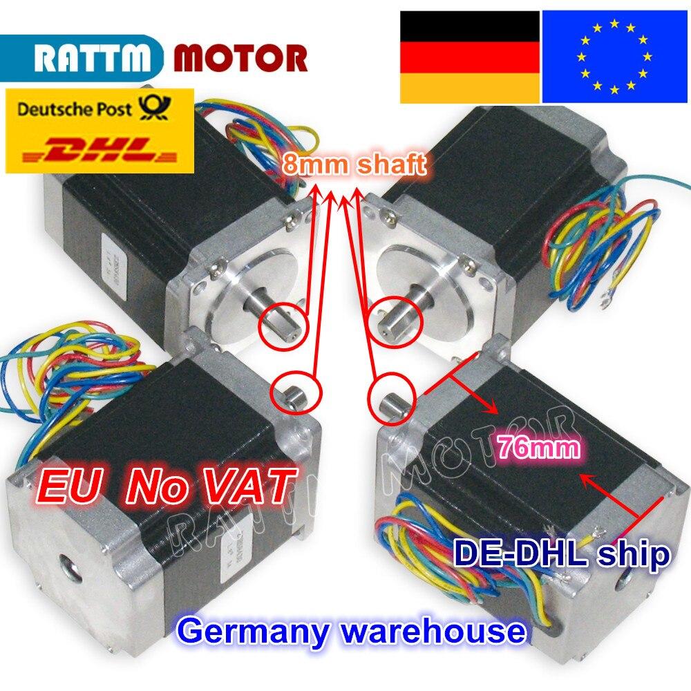 EU ship/free VAT 4PCS NEMA23 76mm/ 270Oz in/ 3A CNC stepper motor stepping motor for CNC Router/Engraving/Milling machine