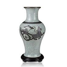 Jingdezhen ceramics kiln porcelain carving antique vase ornaments ornaments Home Furnishing crack