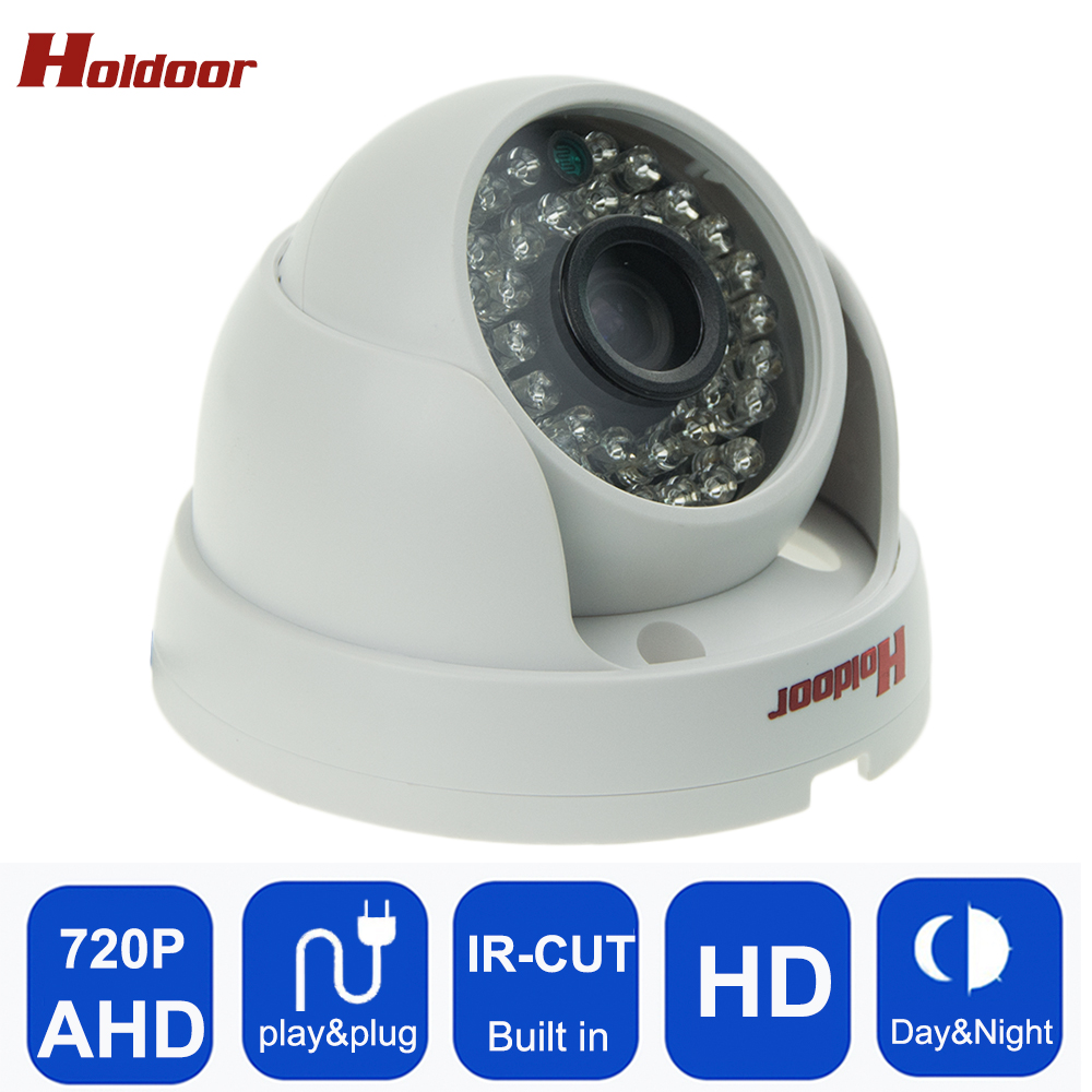 AHD 720P IR Mini Dome Camera  AHD Camera indoor IR CUT Night Vision Plug and Play for AHD DVR Surveillance Security camera 4 in 1 ir high speed dome camera ahd tvi cvi cvbs 1080p output ir night vision 150m ptz dome camera with wiper