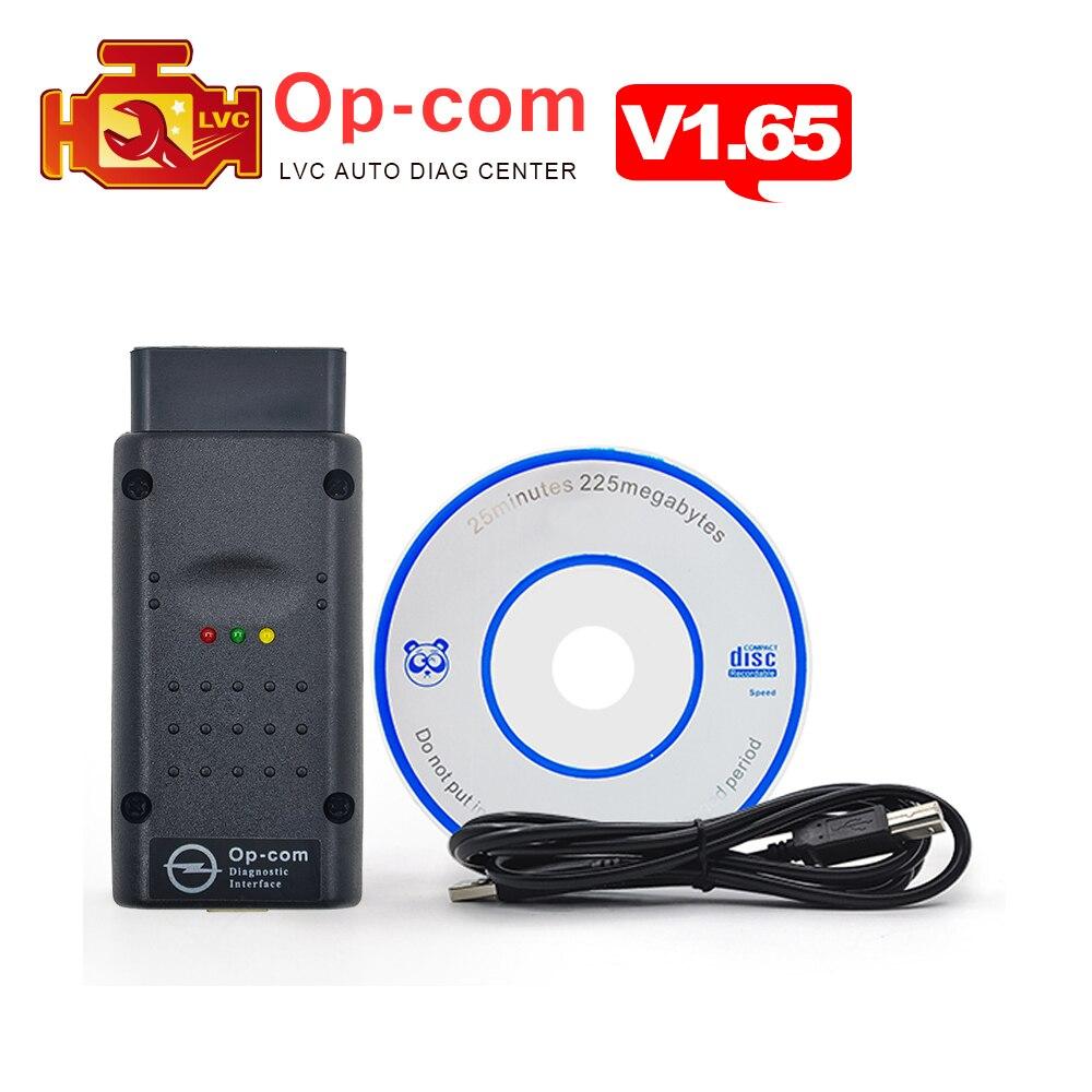 Prix pour Date V1.65 firmware OPCOM avec PIC18F458 puce OP-COM obd2 pour opel auto can bus scanner OBDII OBD 2 voiture de diagnostic-outil op com