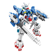 New Middle Size Gundam Action Figure Model Diamond Building Blocks LOZ 16cm 6 pcs/set Toys for Children 9+Stress Relief Toy