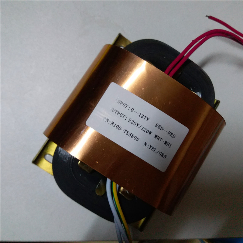 220V 0.54A R Core Transformer 120VA R100 custom transformer 127V input copper shield Power amplifier220V 0.54A R Core Transformer 120VA R100 custom transformer 127V input copper shield Power amplifier