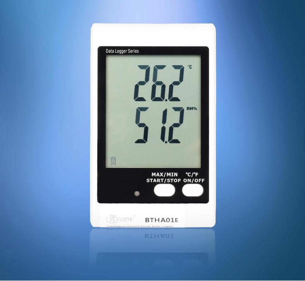 BSIDE BTHA01E 3.4 Temperature & Humidity Meter Data Logger w/ External Probe & Sound-Light Alarm new usb temp temperature humidity datalogger data logger record meter 40 70c