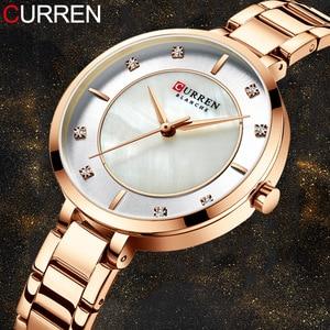 Image 2 - Curren montre bracelet étanche pour femmes, de marque de luxe, de marque supérieure, en or Rose, bracelet pour dames
