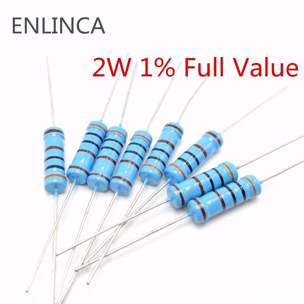 20pcs 2W 1% Metal Film Resistor 1.2K 1.5K 1.8K 2K 2.2K 2.4K 2.7K 3K 3.3K 3.6K 3.9K 4.3K 4.7K 5.1K 5.6K 6.2K 6.8K Ohm