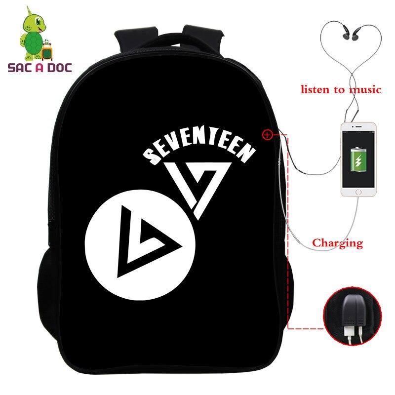 Men's Bags Backpacks Seventeen Hip Hop Multifunction Backpack Women Men Usb Charging Travel Bags For Teenagers Students School Laptop Backpack