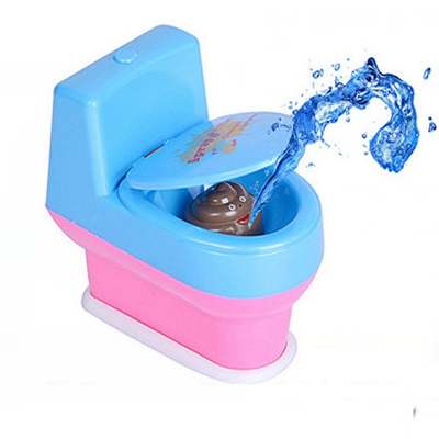 Creative Funny the whole summer water game toilet table desktop parent-child game TOILET toilet Funny toys new strange trick wacky cavecanem desktop game funny family party electric sound dog creative parent child interactive toys