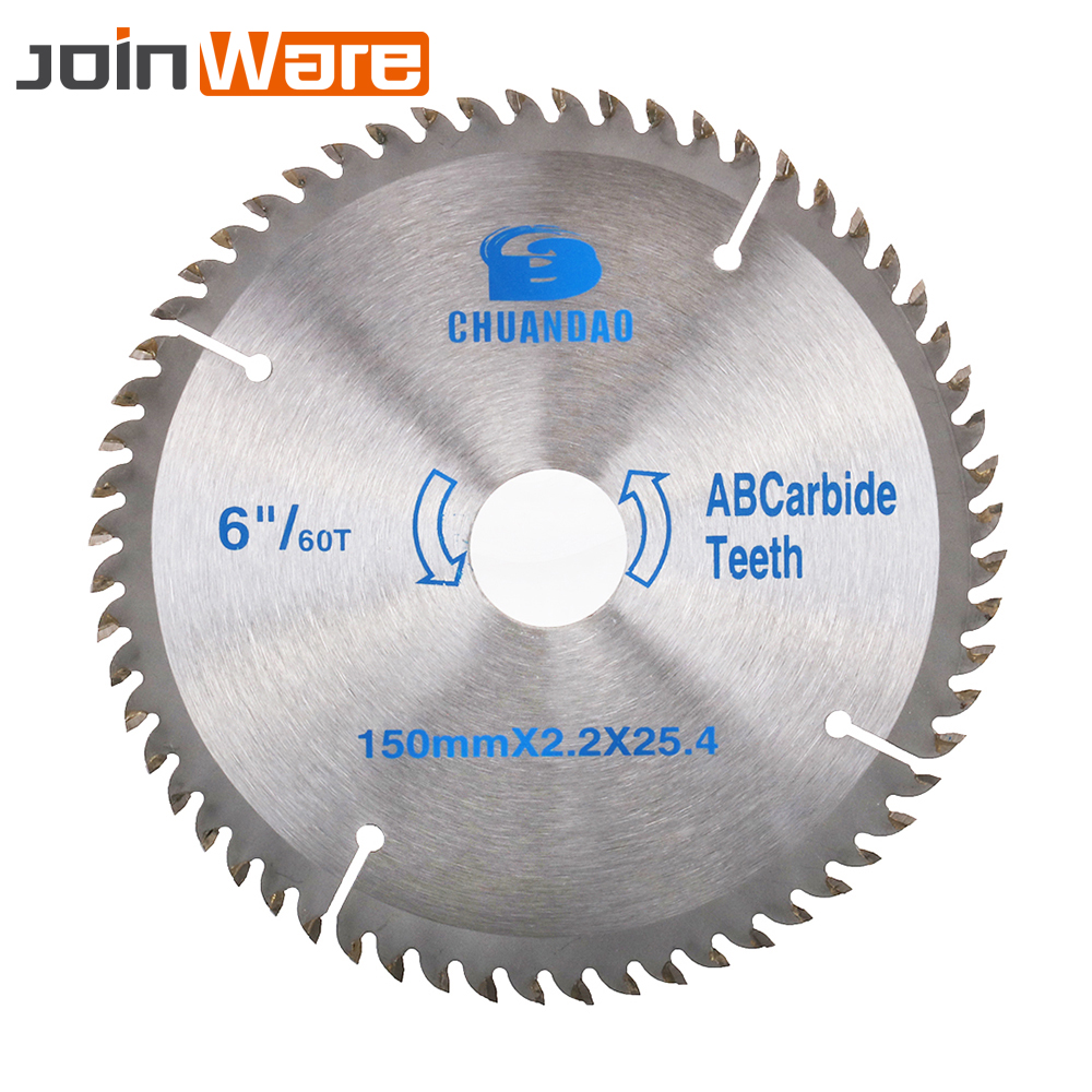 6'' Circular Saw Blade Cutting Disc For Woodworking Wood Powerful Tool 150x2.2x25.4mm 40/60T