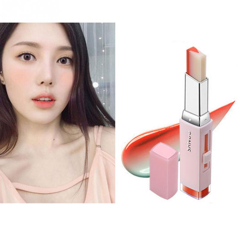 Korean Style Gradient Color Lipstick Moisturize Two Color Tint Lip Gloss long Lasting Waterproof Lip Balm Women Makeup Beauty 4