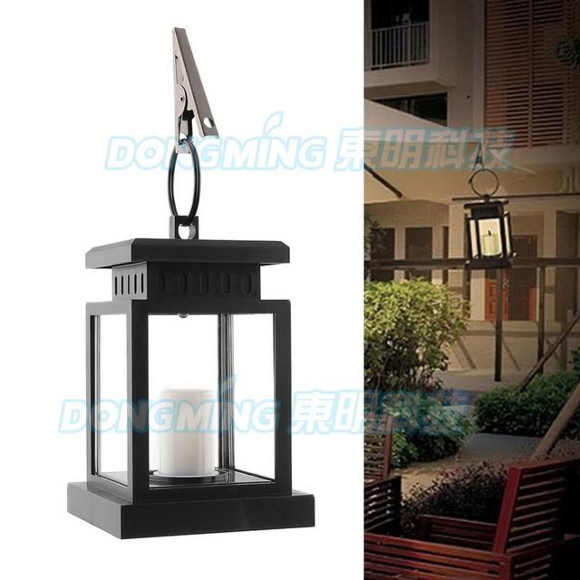 8pcs waterproof safe 12V antique led solar lamp garden yard lawn outdoor umbrella led light black solar power candle lantern