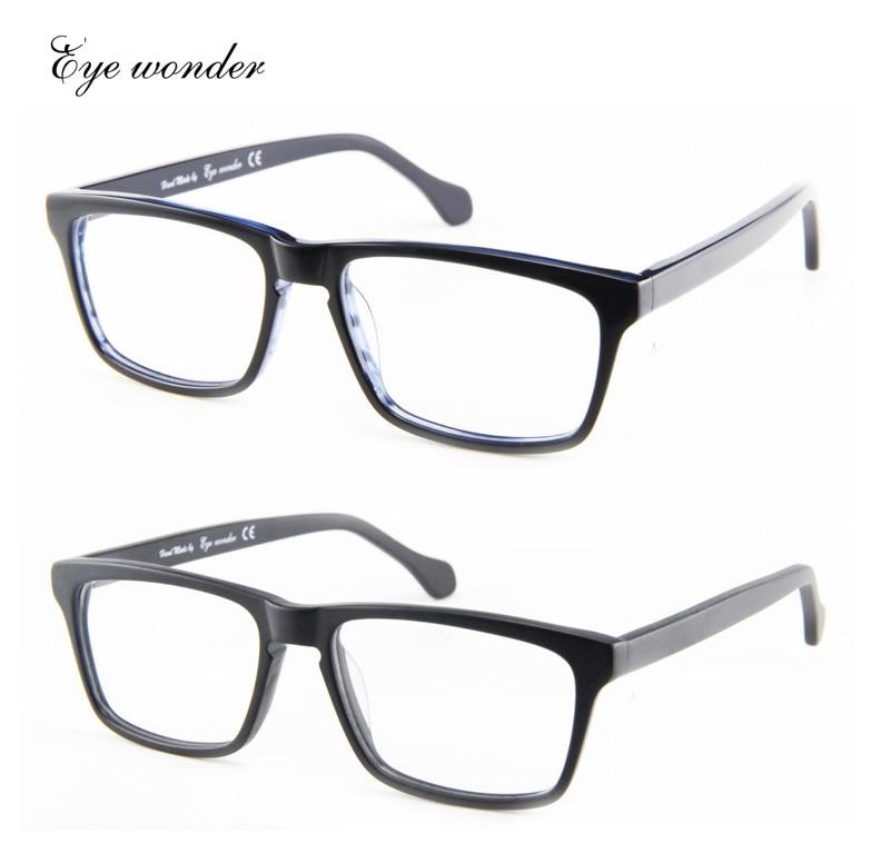6d0209783 العين عجب الرجال الكلاسيكية المصنوعة يدويا خلات الإطار البصرية النظارات  إطارات gafas دي سول bril السنة الجديدة المبيعات
