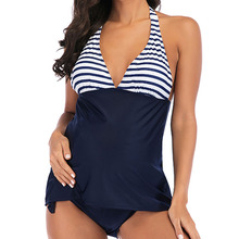 Plus Size Two-piece Set Maternity Swimwear Clothing Pregnancy Wear Beach Bathing Suits Sexy Stripe Swimming for Pregnant
