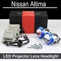 Нет Ошибка Привет Низкий СВЕТОДИОДНЫЙ Проектор линзы фар в Сборе Для Nissan Altima с галогенные фары ТОЛЬКО Модернизации Обновление (2006-2015)