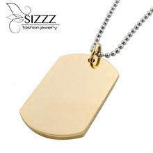 Fine Jewelry Necklaces amp Pendants Collares Plated Fashion Men #8217 s 316l Stainless Steel Necklaces Pendants For Man And Woman cheap Link Chain Classic Pendant Necklaces CRYSTAL SIZZZ DFS0594 5 8*2 4cm All Compatible Women geometric Other Romantic 24inch