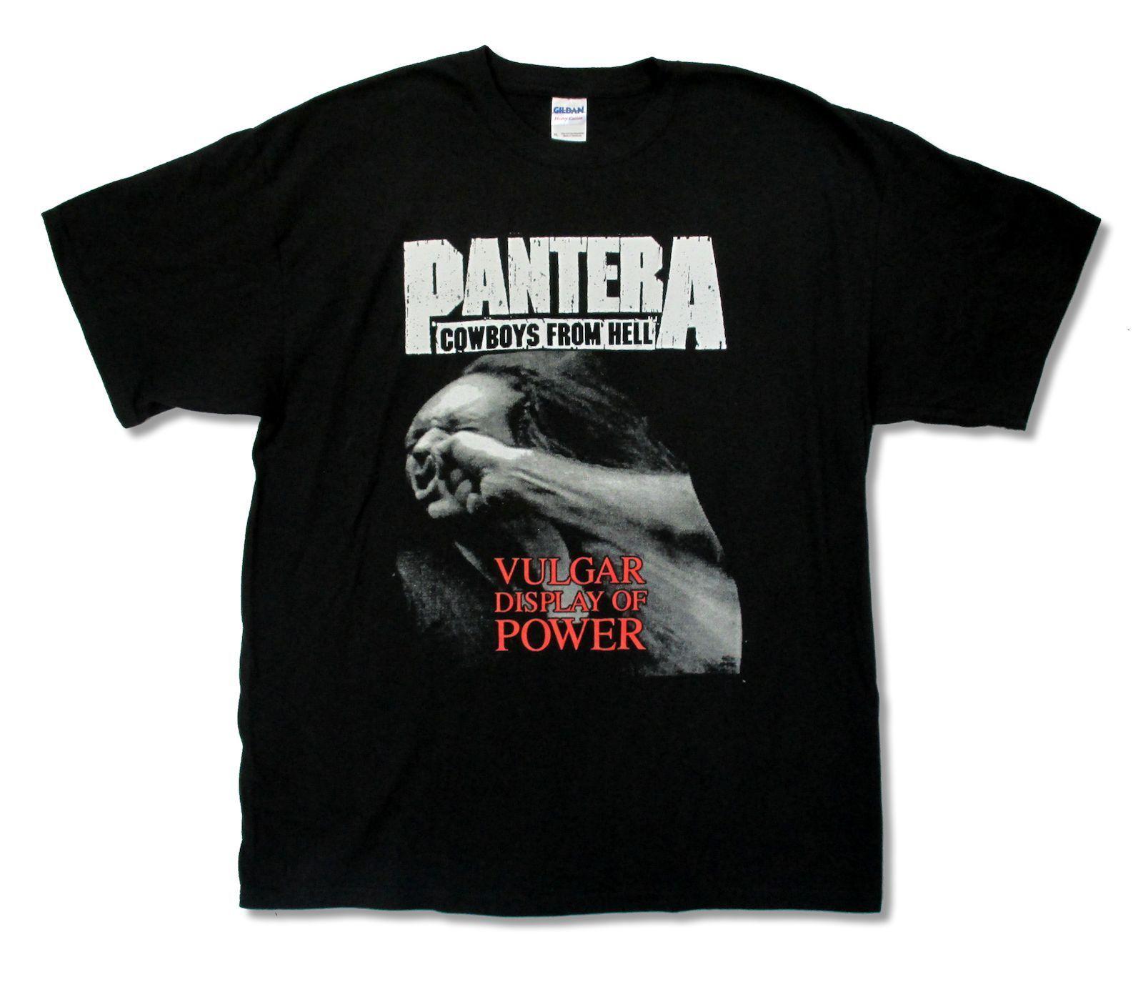 Design t shirt program - Pantera Cowboys From Hell Black Slim Fit T Shirt New Official Adult Metal T Shirt Design Software