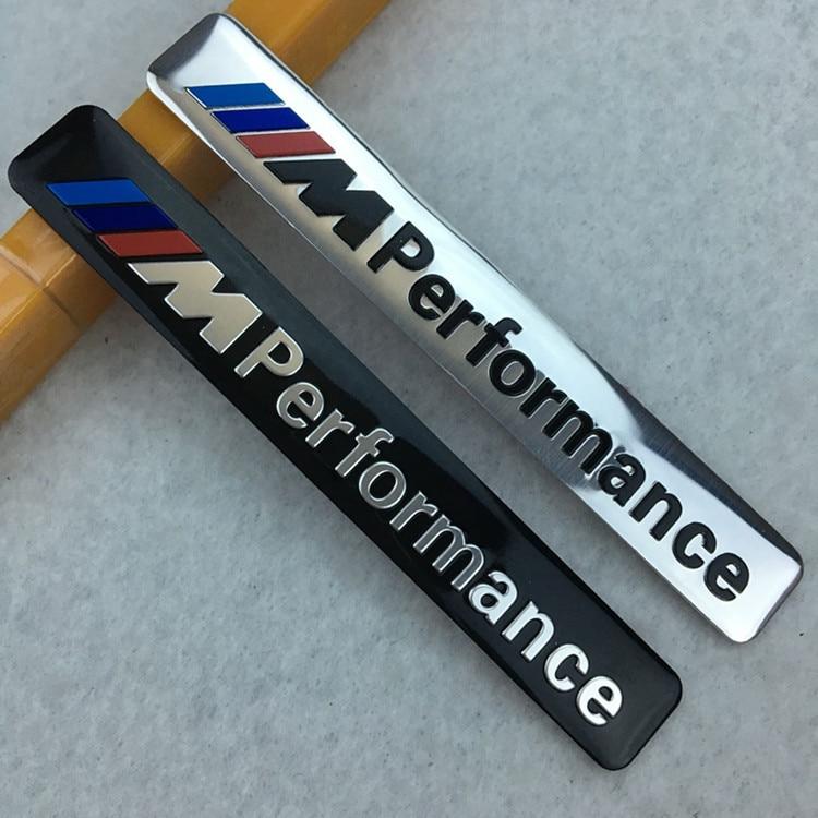 M Performance Motorsport Aluminum Car Sticker Emblem Grill Badge for BMW E34 E36 E39 E53 E60 E90 F10 F30 M3 M5 M6 car styling стоимость