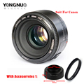 YONGNUO YN50mm f1.8 YN EF 50mm f/1.8 AF Lens YN50 Aperture Auto Focus Suit for Canon DSLR Cameras With lens bag/cleaning pen /UV