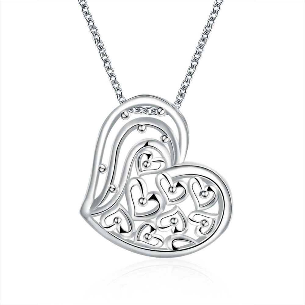 e6b67b9ea04e N785 925 joyería de plata hueco de la manera del corazón del melocotón de  cristal collar de piedra para las mujeres de la boda jewerly