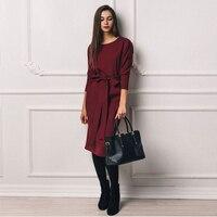 Лаконичное платье благородного цвета