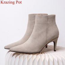2020 new arrival pointed toe ของแท้หนัง(China)