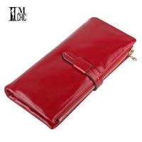 Women Wallet Long Genuine Leaher Wallet Holder Good Quality Zipper Pocket Multi Color Fashion Clutch Wholesale