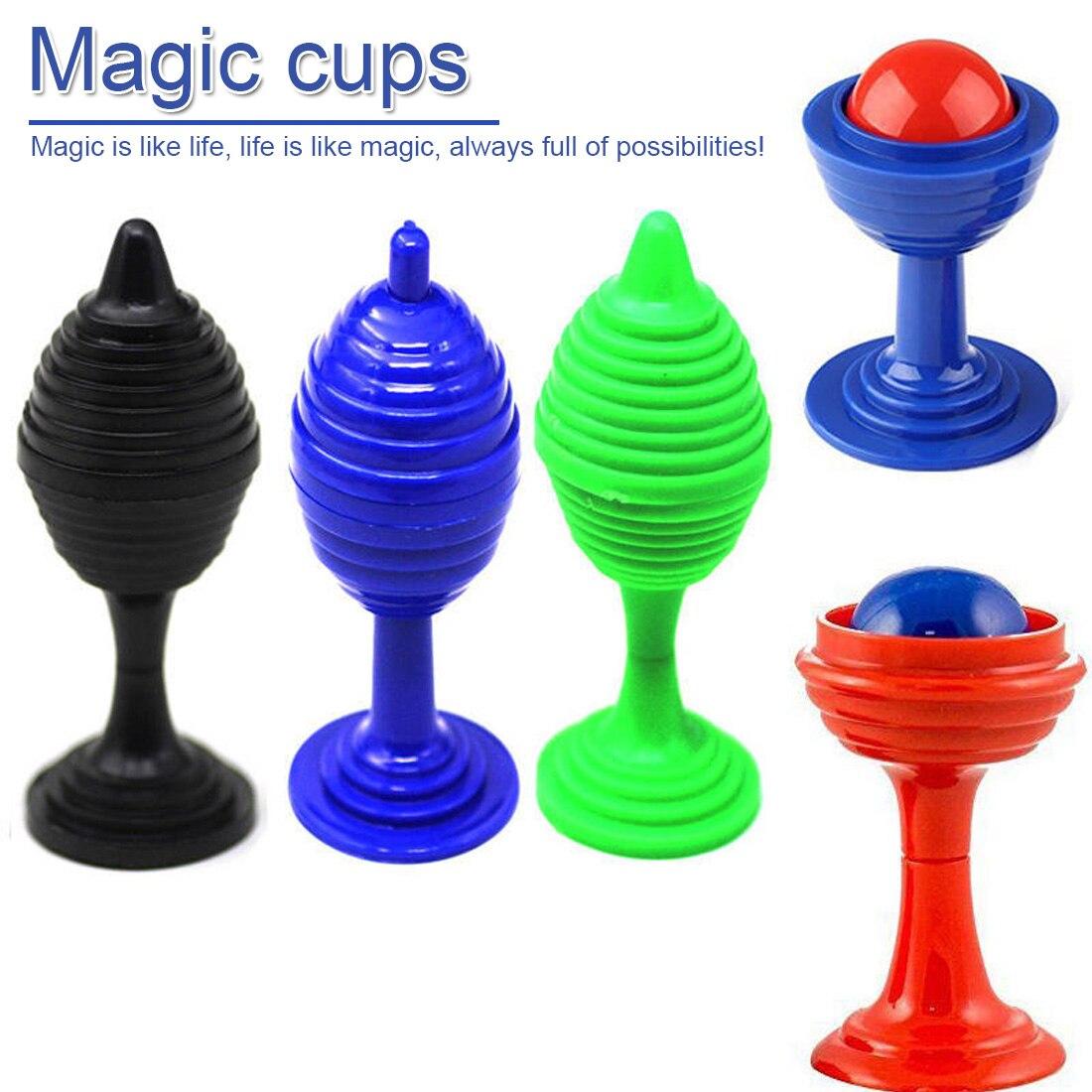Random Color 1set Beads Go No Traces Magic Cup Puzzle Novelty Toys Children Close-up trick Props