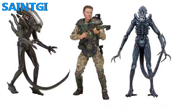 SAINTGI Alien:Covenant Alien vs. Predator Alien PVC 19CM Action Figure Collection Model Dolls Kids Toys Free Shipping neca 2 pack alien vs predator action figure set 7