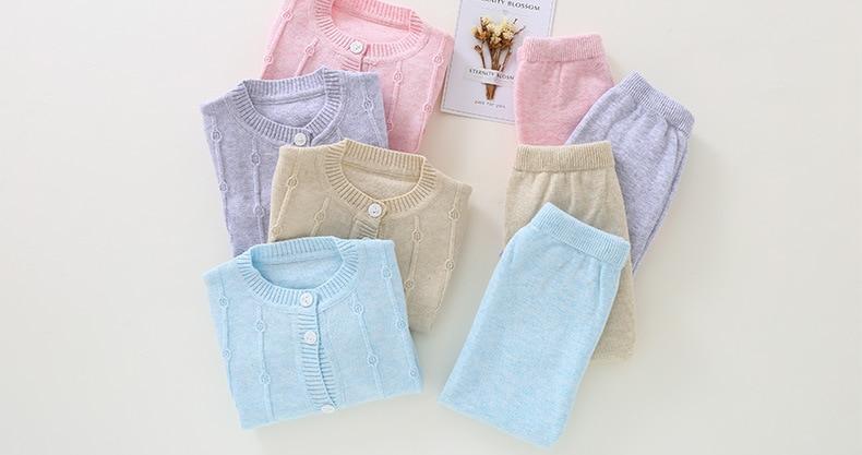 Теплые многоцветная детская одежда для мальчиков и девочек удобный хлопок Наборы для младенцев M1701-M1719