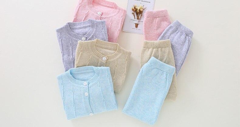Multicolor quente Do Bebê Das Meninas dos meninos Roupas Conjuntos de algodão do bebê Confortável M1701-M1719