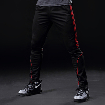 Sport Running Pants Men With Pockets Athletic Football Soccer Training Pants Elasticity Legging jogging Gym Trousers 319 4