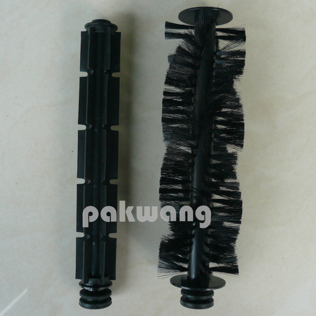 Original A320 Robot Vacuum Cleaner Spare Parts, Hair Brush 1 Pc and Rubber Brush 1 Pc with 4 Rubber Sleeve