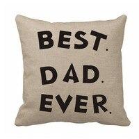 Cuscino personalizzato Copertina Best Dad Mai Casi di Copertura del Cuscino Lettera Cuscino Personalizzato Cuscino Sedia Copre per il Padre Regalo Home Decor