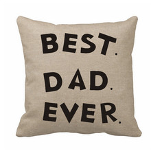 custom cushion cover best dad ever pillow cover letter pillow cases chair cushion covers for father gift home decor