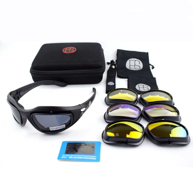 a826fc6aef Outdoor Sport Polarized C5 Glasses Tacitcal Shooting Army Military Goggles  Camping Hiking Sunglasses Cycling Glasses 4