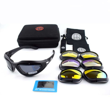Outdoor Sport Polarized C5 Glasses Tacitcal Shooting Army Military Goggles Camping Hiking Sunglasses Cycling Glasses 4 Lens Kit