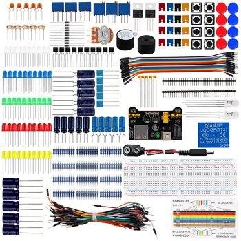 Keywish Diy Electronics Basic Starter Kit Breadboard,Jumper wires,Resistors,Buzzer for Arduino UNO R3 Mega256