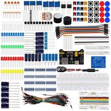 Keywish Diy Electronics Basic Starter Kit Breadboard, cables de puente, resistencias, zumbador para Arduino UNO R3 Mega256