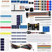 Keywish Electronics Basic Starter Kit w/ Breadboard,Jumper wires,Color Led,Resistors,Capacitor,Buzzer for Arduino R3 Mega256