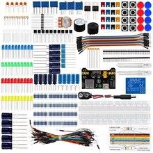 Keywish diyエレクトロニクス基本スターターキットブレッドボード、ジャンパ線、抵抗、ブザーarduinoのuno R3 Mega256