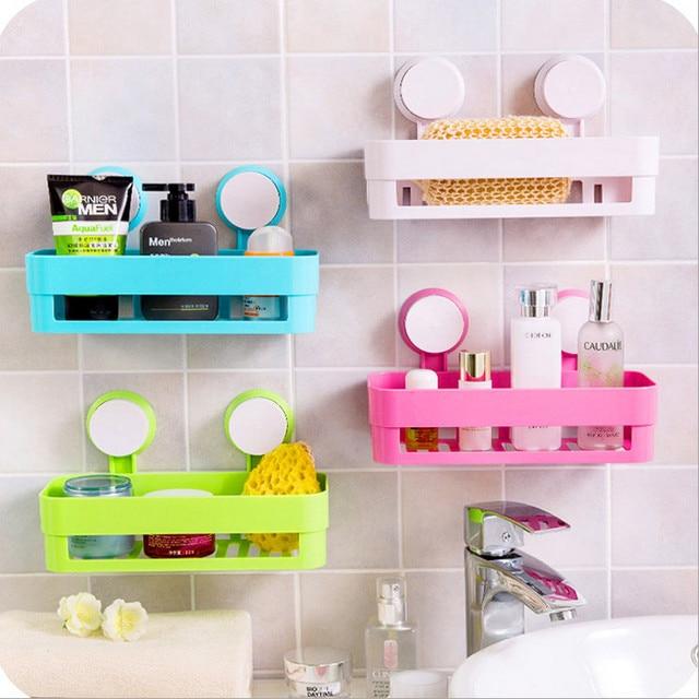 Sucker Edge Plastic Organizer Net Box Kitchen Sink Bathroom Shelf ...