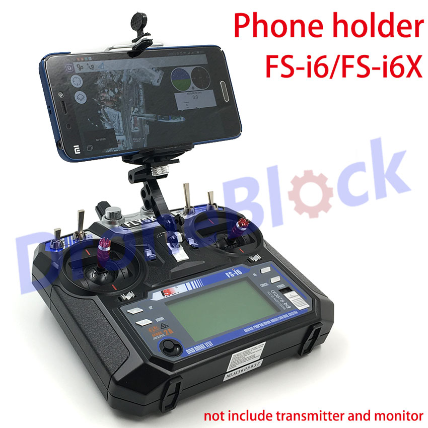 Flysky fs-i6/fs-i6X FS-i6S Turnigy TGY-i6 Transmitter mobile phone holder/ mobile phone clip mounting bracket image