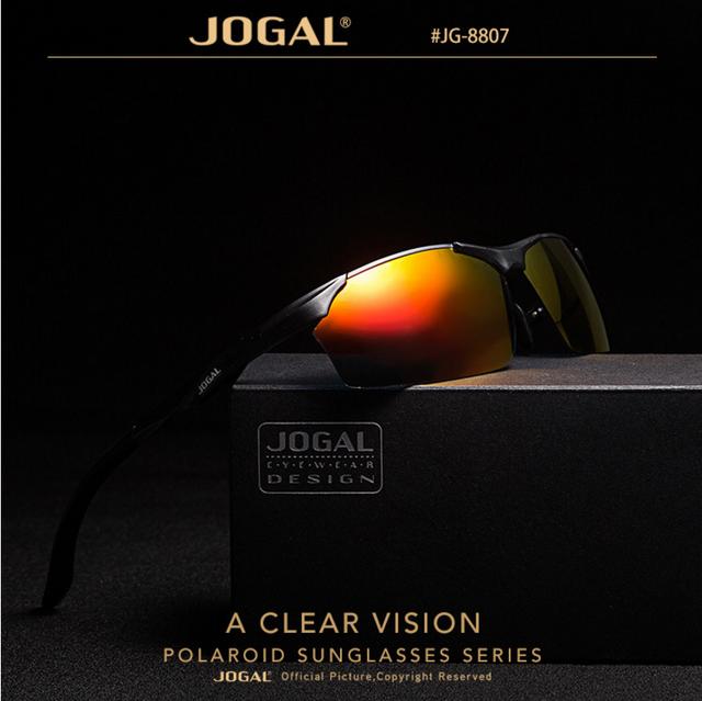 JOGAL recubrimiento de Aluminio polarizado gafas de piloto Aviador diseñador de la marca de los hombres Gafas de Sol de Conducción Espejos gafas de sol hombre Gafas de Sol frescas