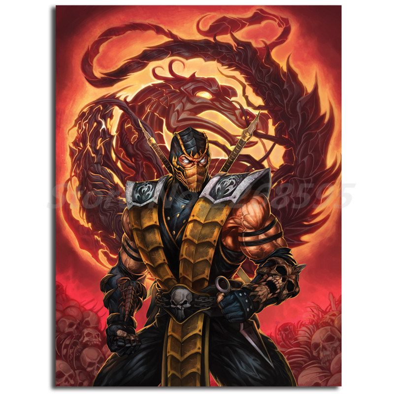 Scorpion Mortal Kombat X Game Hd Wallpapers Canvas Posters Prints Wall Art Painting Decorative Picture Modern Home Decoration