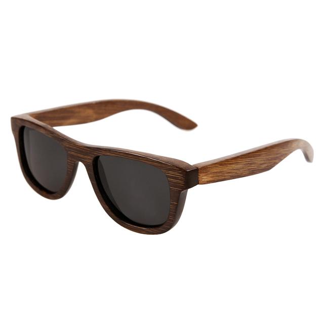 100% hecho a mano las gafas de sol polarizadas gafas de sol de madera de bambú natural Envío Gratis