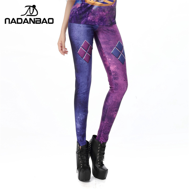 1475 Fitness Women Leggings Sexy Girl Polyester Slim Fit Workout Pants Trousers Suicide Squad Vintage Harley Quinn Printed